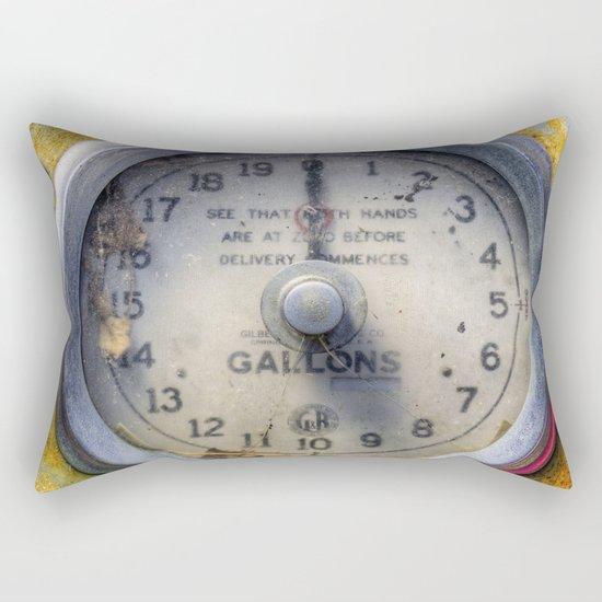 Old Petrol Pump Gauge Rectangular Pillow