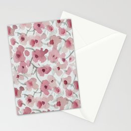 Pink Poppies Stationery Cards