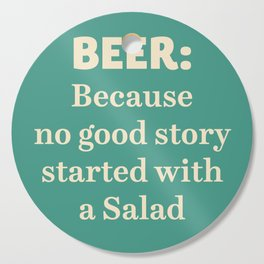 Beer illustration quote, vintage Pub sign, Restaurant, fine art, mancave, food, drink, private club Cutting Board