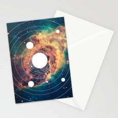 Solar System Near Nebula Stationery Cards