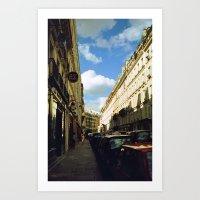 Paris in 35mm Film: Rue Malher in Le Marais Art Print