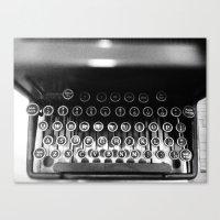 typewriter Canvas Prints featuring Typewriter by Madison Daniels