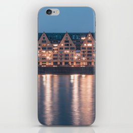 Architecture at night iPhone Skin