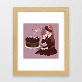 Coffee Fig Cake  Framed Art Print
