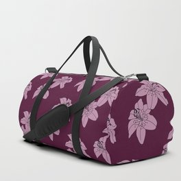 Lily The Tiger - Purple Duffle Bag