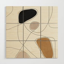 Thin Flow I Wood Wall Art