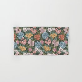 Colorful Botanic Flowers Hand & Bath Towel