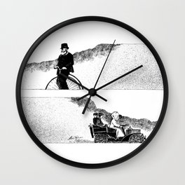 Wheels Wall Clock