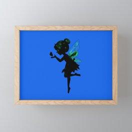 Fairy and Butterfly Framed Mini Art Print