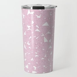 Pink diamonds / Lineart diamonds pattern Travel Mug