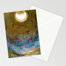 Frescoes of La Maddalena Cathedral, Rome, Italy Stationery Cards
