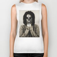 bjork Biker Tanks featuring Bjork skull by Sincere