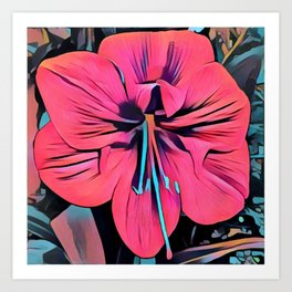 Tropical Clivia Flower in Pop Art Art Print