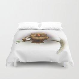 Caffeinated Owl Duvet Cover