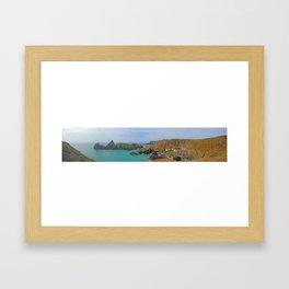 Kynance Cove Panorama Framed Art Print