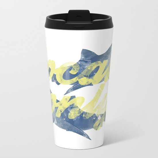 Locals Only Watercolor Metal Travel Mug