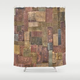Etched Metal Patchwork Shower Curtain