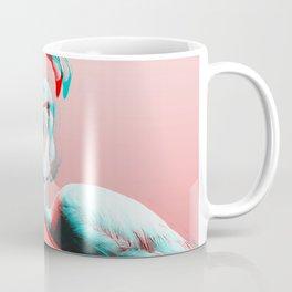 Glitch Flamingos Coffee Mug