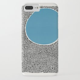 Abstract Blue Lake iPhone Case