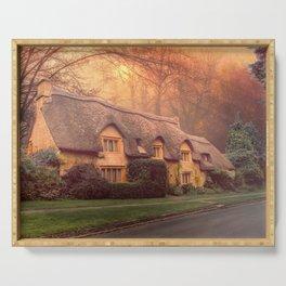 Misty Woodland Cottage  Serving Tray