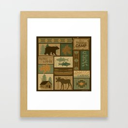 Big Bear Lodge Framed Art Print