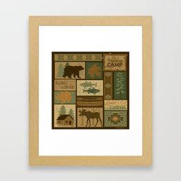 Big Bear Lodge Framed Art Print