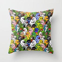 Too Many Birds!™ Bird Squad 2 Throw Pillow