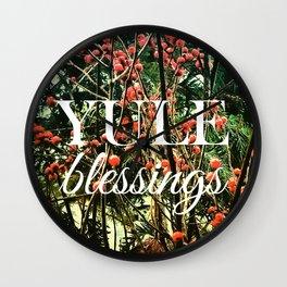 Yule Blessings. Wall Clock
