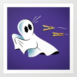 A Fearful Phantom (Purple) Art Print