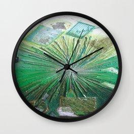 GREEN LIGHT by Elena Raimondi Wall Clock