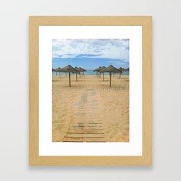 Way to the Beach Framed Art Print