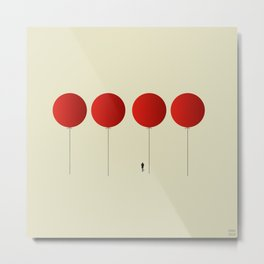 Red Balloons on Friday Metal Print