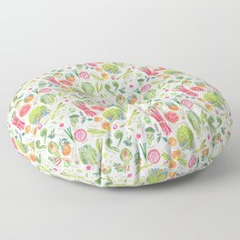 Spring Harvest Pattern Annotated Floor Pillow
