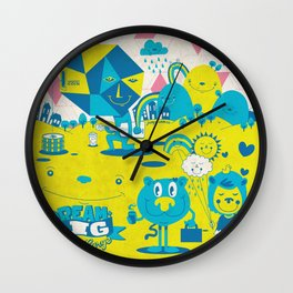 Live Large Wall Clock
