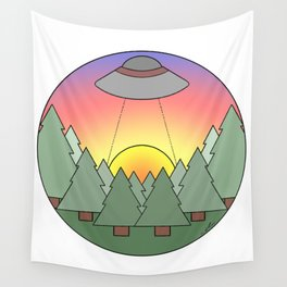 UFO Sighted Wall Tapestry