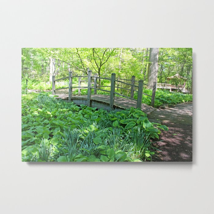 A Walk through the Garden Metal Print