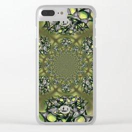 Chai Mandala - Green Mist Clear iPhone Case