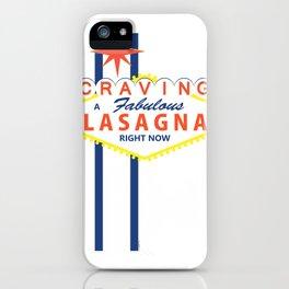 Las Vegas Lasagna iPhone Case