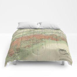 Vintage Geological Map of Nova Scotia (1906) Comforters