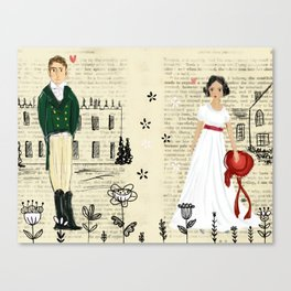 Mr.Darcy of Pemberley and Miss Bennet of Longbourn Canvas Print