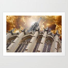 Angry Sainte-Chapelle Art Print