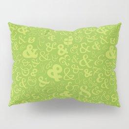 Ampersands - Green Pillow Sham