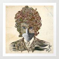 dylan Art Prints featuring Dylan by April Gann