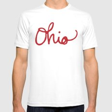 Ohio LARGE White Mens Fitted Tee