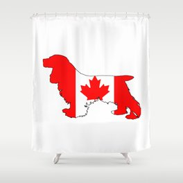 Canada Cocker Spaniel Shower Curtain