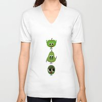 fruits V-neck T-shirts featuring Fruits by ibbyk