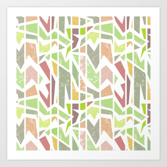 Abstract pattern . Geometric shapes . Art Print