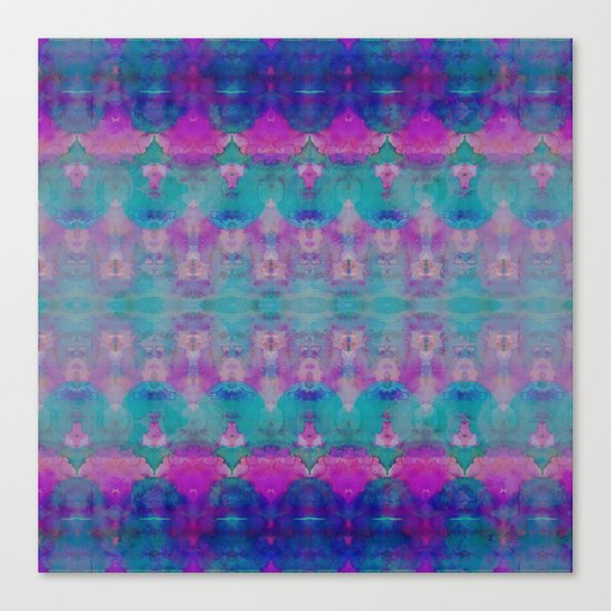 Watercolour Tribal Pink Canvas Print