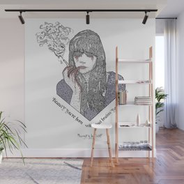 """Beauty you're born with, but brains you earn"" Quote Print - Nevernight Wall Mural"
