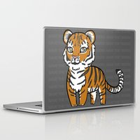 tigers Laptop & iPad Skins featuring TIGERs by hoshi-kou